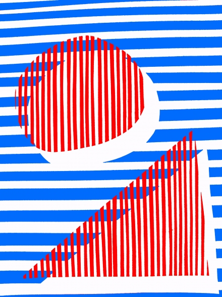 NARROW STRIPE RED BLUE