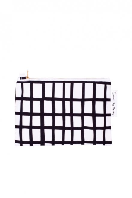 cut out black square pouch