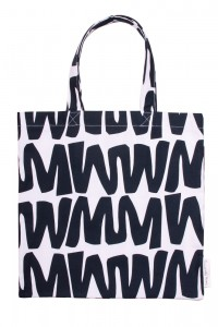cut out black zigzag bag