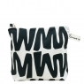 cut out black zigzag washbag