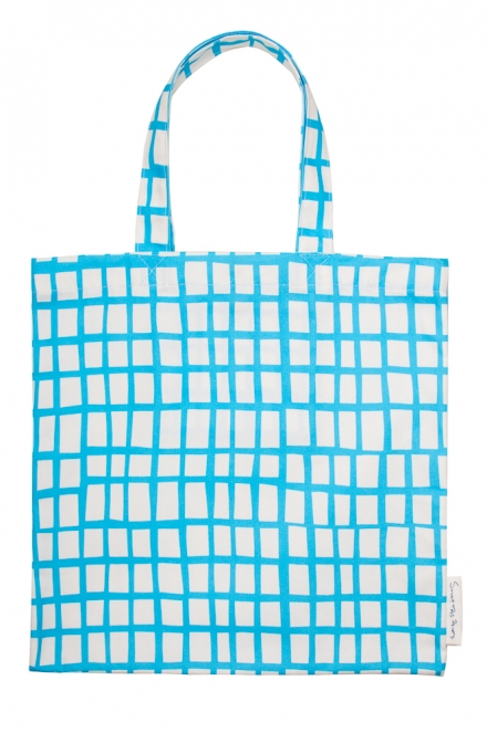cut out blue square bag