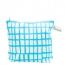 cut out blue square washbag