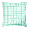 cut out mint square cushion