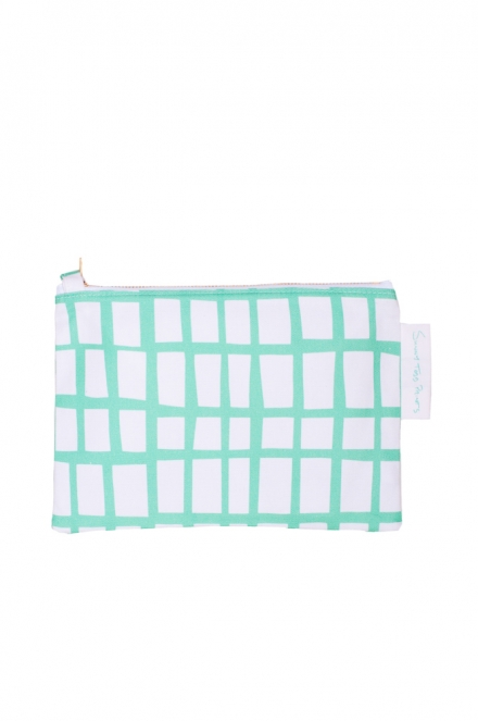 cut out mint square pouch