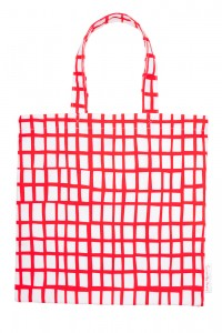 cut out red square bag