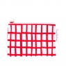 cut out red square pouch