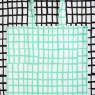 mint square bag on black square